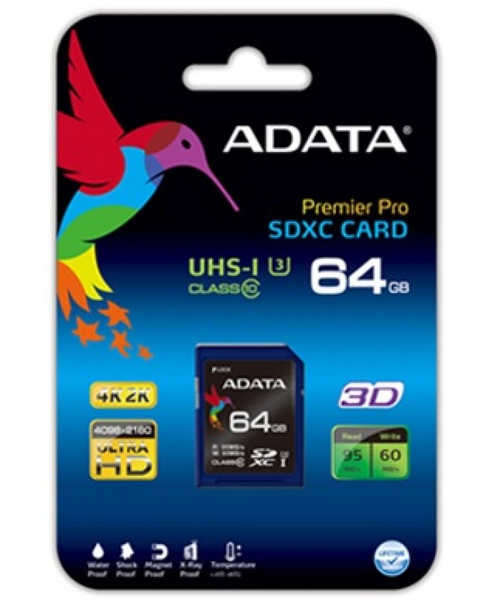 ADATA Premier Pro 64GB SDXC UHS-I U3 Class 10