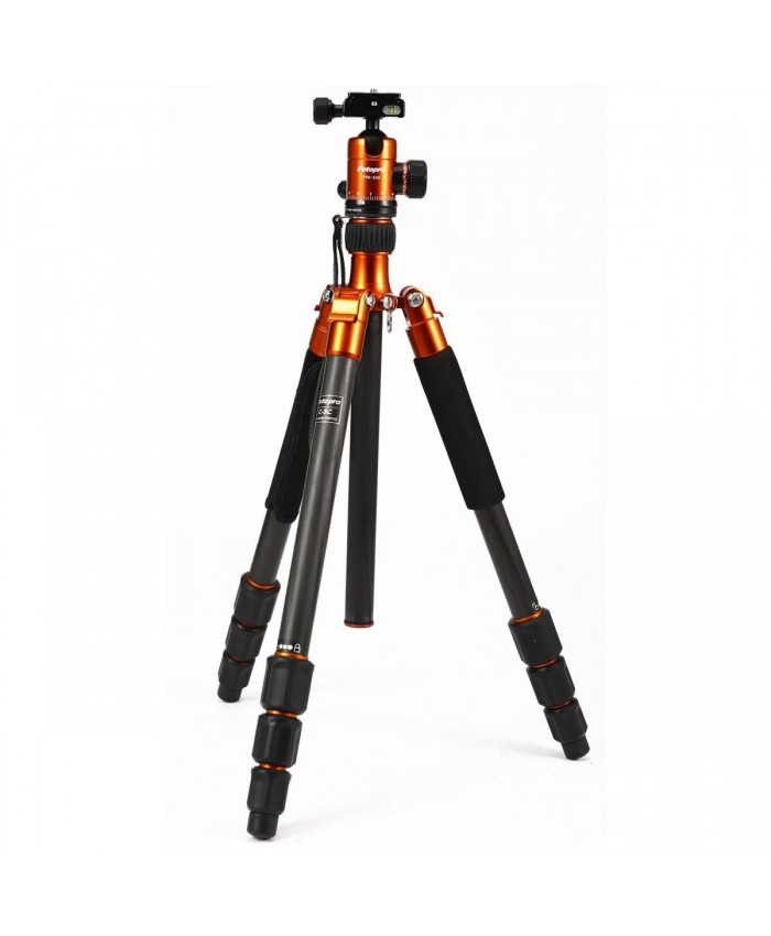 FotoPro C5C 4-Sections Carbon Fiber Tripod with FPH-52Q Head