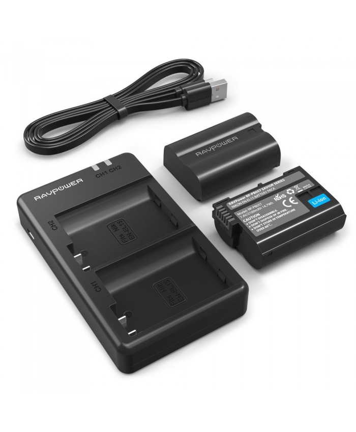 RAVPower Nikon EN EL15 Battery Charger Set