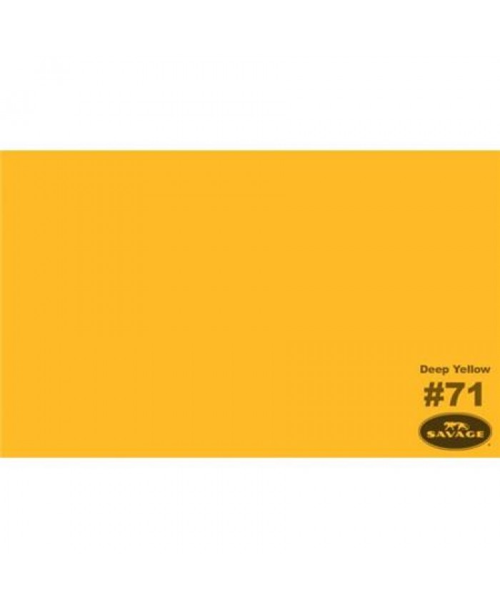 Savage Widetone Seamless Background Paper #71 Deep Yellow 2.7m