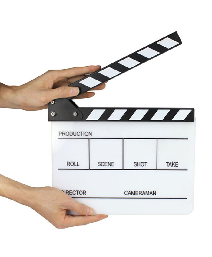Black+White Clapper Board