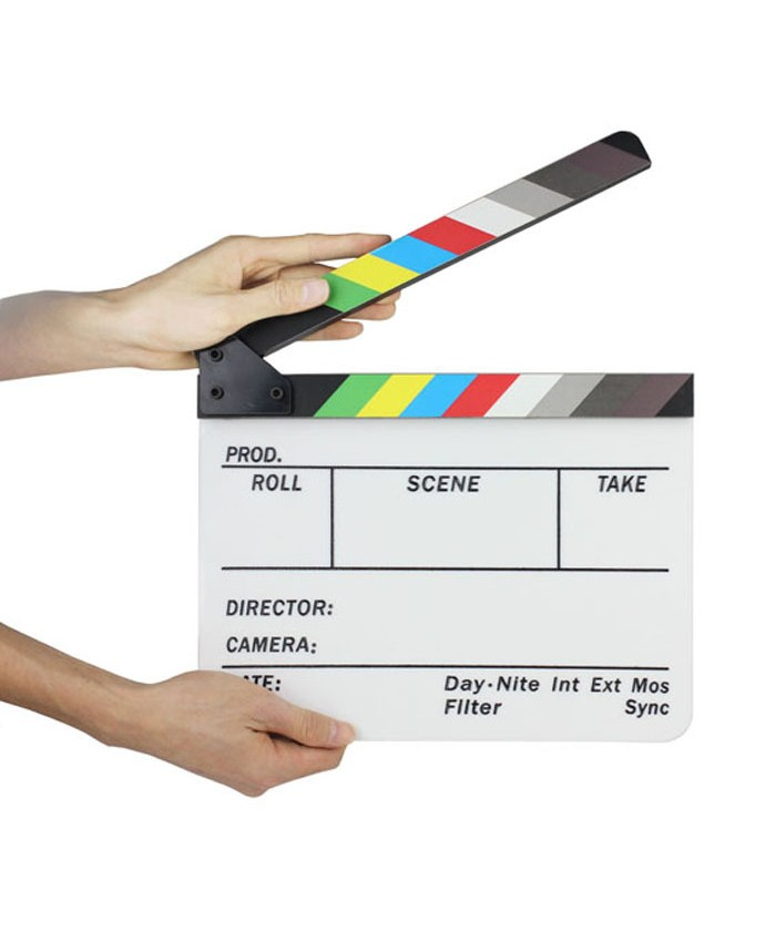 Colorful Clapper Board