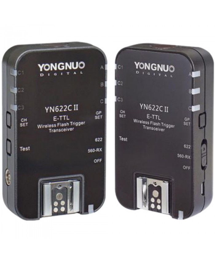 Yongnuo YN-622C II E-TTL Wireless Flash Transceiver for Canon 2-Pack