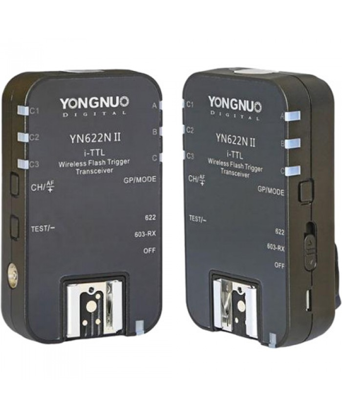 Yongnuo YN-622N II E-TTL Wireless Flash Transceiver for Nikon 2-Pack