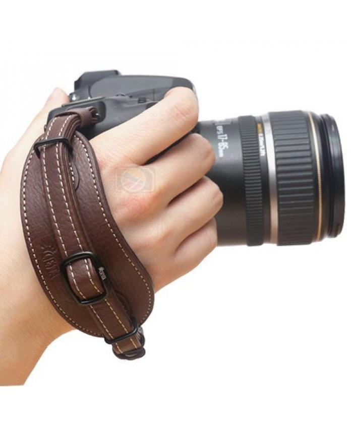 Leather Hand Strap Dark Brown