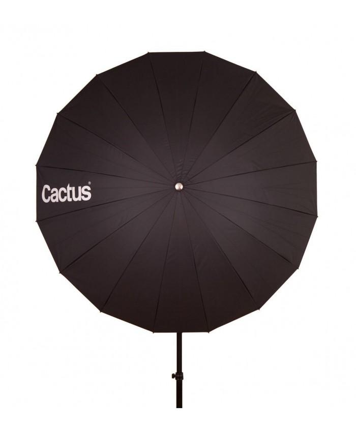 """Cactus Fiberglass 40"""" Black/Silver Reflector Umbrella F-402"""