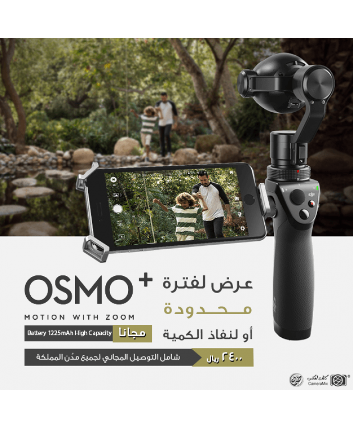 DJI Osmo+ Handheld 4K Camera and 3-Axis Gimbal + DJI Osmo Intelligent Battery High Capacity