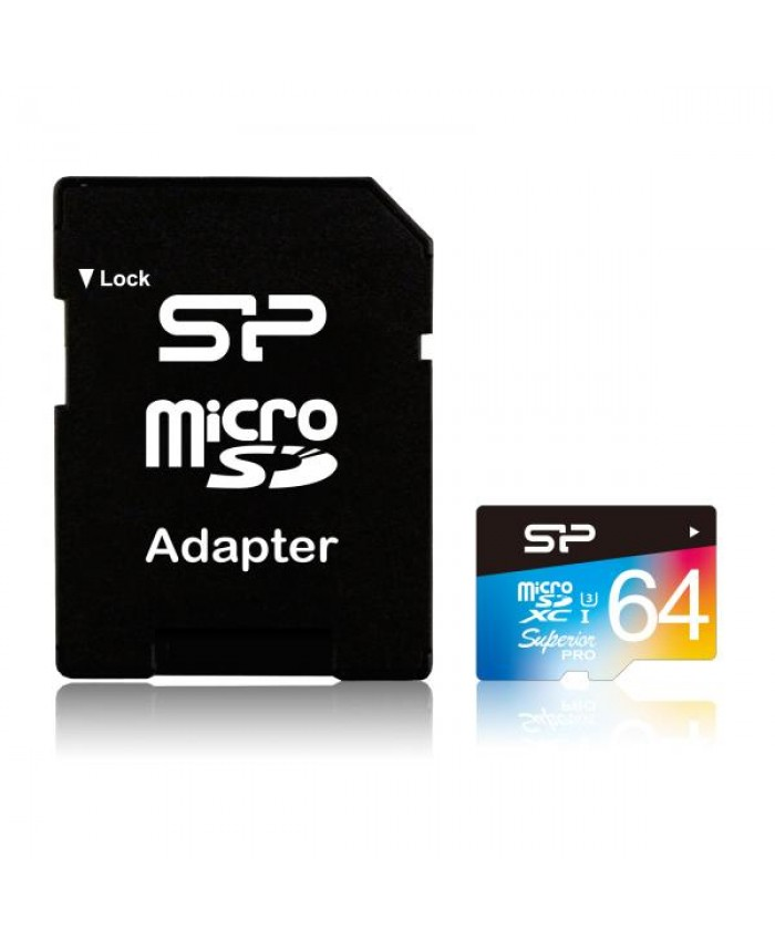 Silicon Power 64GB MicroSDHC UHS-1 U3 Superior Pro