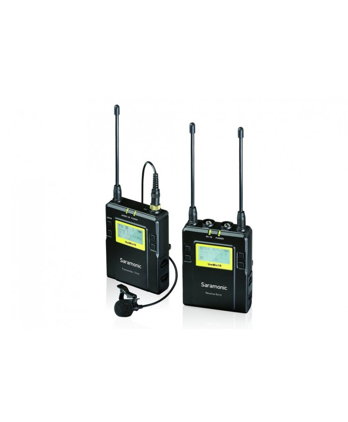 Saramonic UWMIC10 96-Channel UHF Wireless Lavalier Microphone System TX+RX