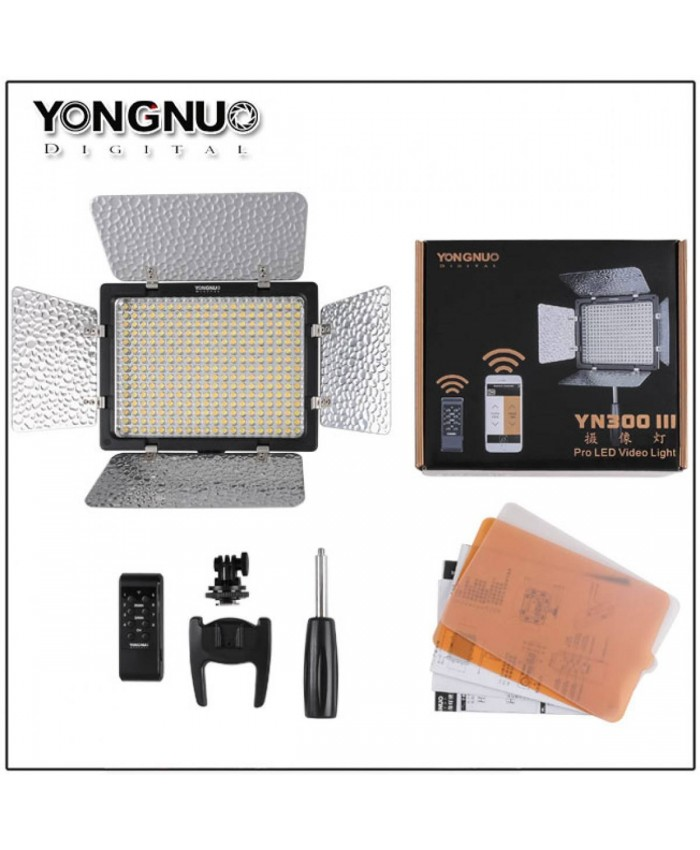 Yongnuo YN-300 III LED Video Light 3200-5500K + AC Adapter