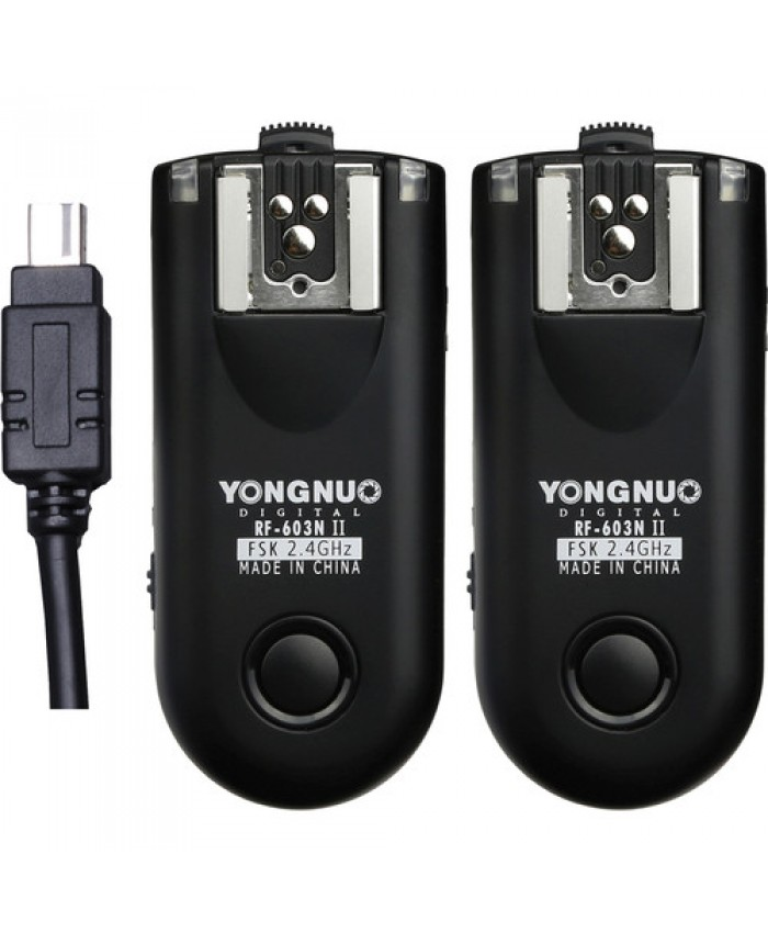 Yongnuo RF-603N N3 II Wireless Flash Trigger Kit for Nikon DC2 Connection