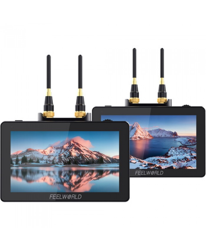 "FeelWorld Two 5.5"" On-Camera Monitors with Wireless Transmitter & Receiver System"