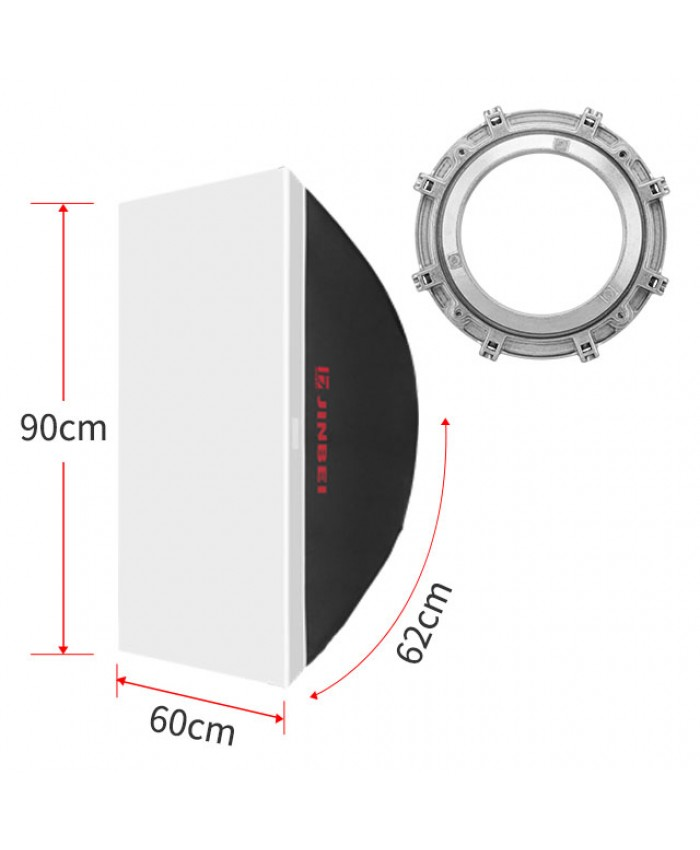 JINBEI DM-60x90cm 24x35inch Rectangles Softbox Bowens Mount Softbox