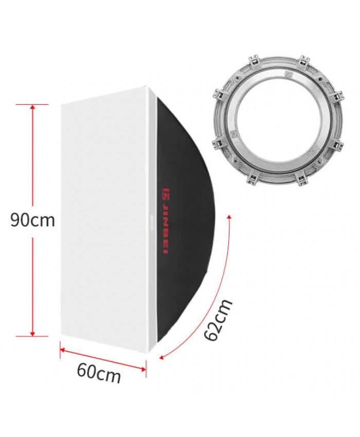 JINBEI DM-60x90cm 24x35inch Rectangles Softbox Bowens Mount Softbox