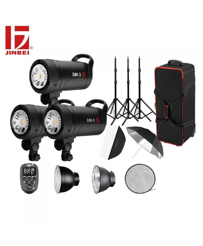 Jinbei DM-5 Flash Kit 3 Heads