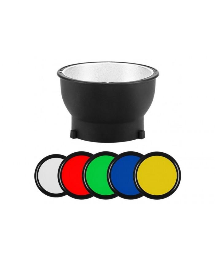 Jinbei Reflector Magnetic 14cm + Gel Filters