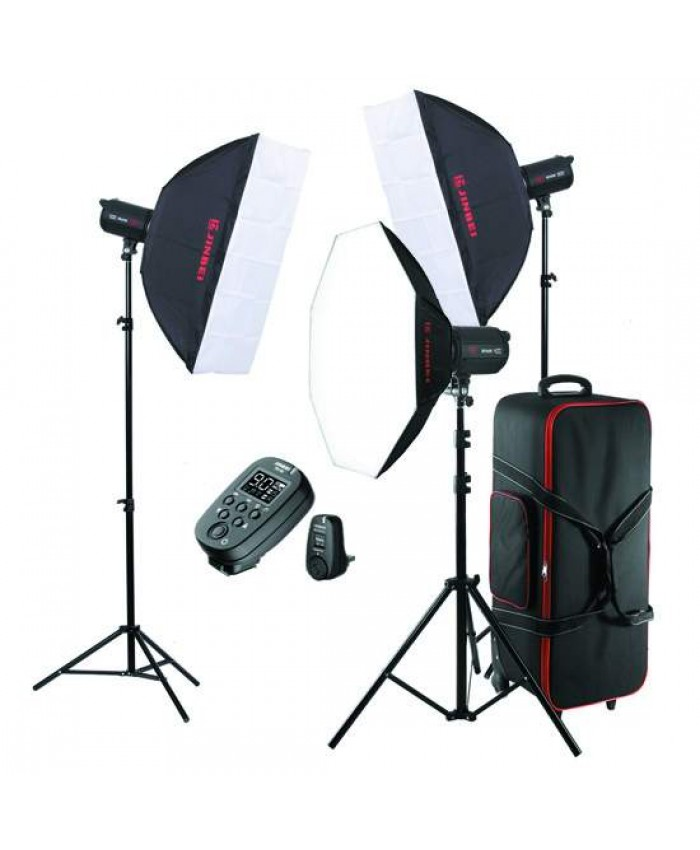 Jinbei Spark II-400 Studio Flash Kit 3 Heads