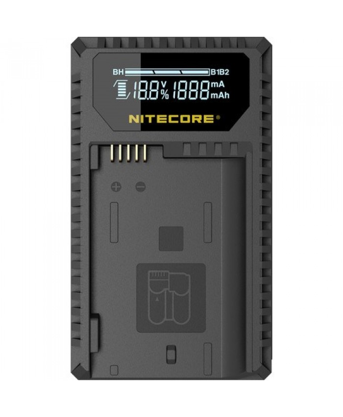 NITECORE UNK1 Dual-Slot USB Travel Charger for Nikon EN-EL14, EN-EL14a, and EN-EL15 Lithium-Ion Batteries