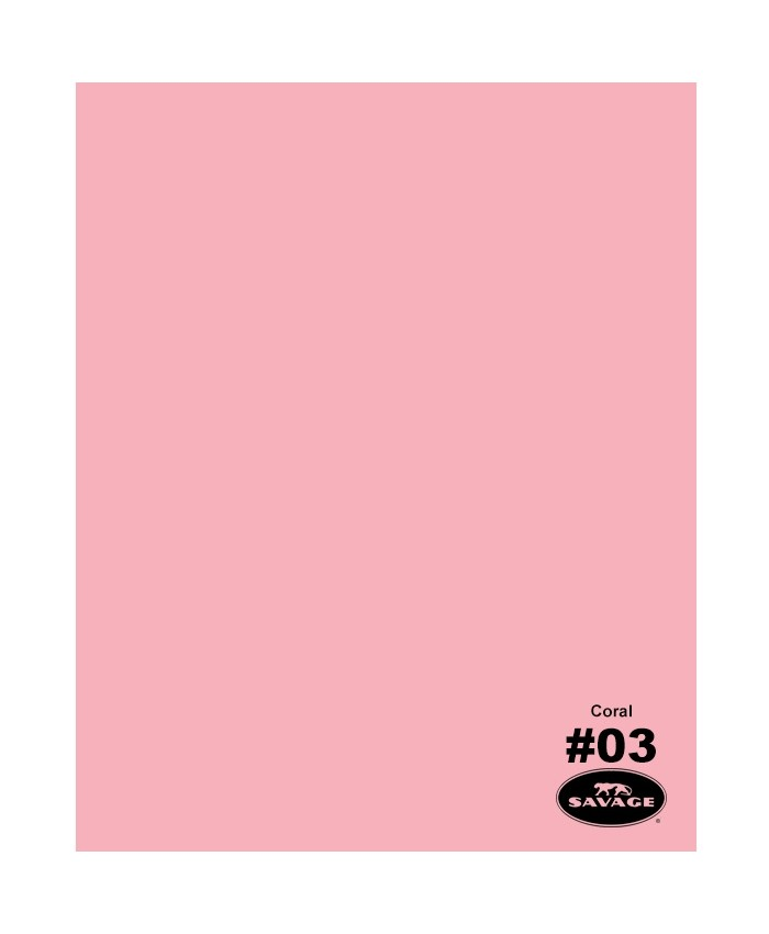 Savage Widetone Seamless Background Paper #03 Coral 2.7m