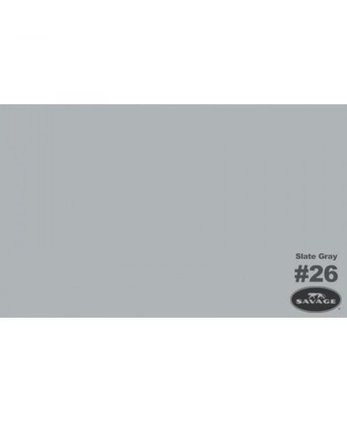 Savage Widetone Seamless Background Paper #26 Slate Gray 2.7m