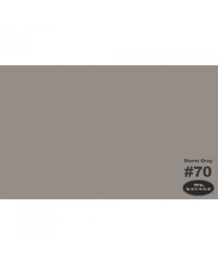 Savage Widetone Seamless Background Paper #70 Storm Gray 2.7m