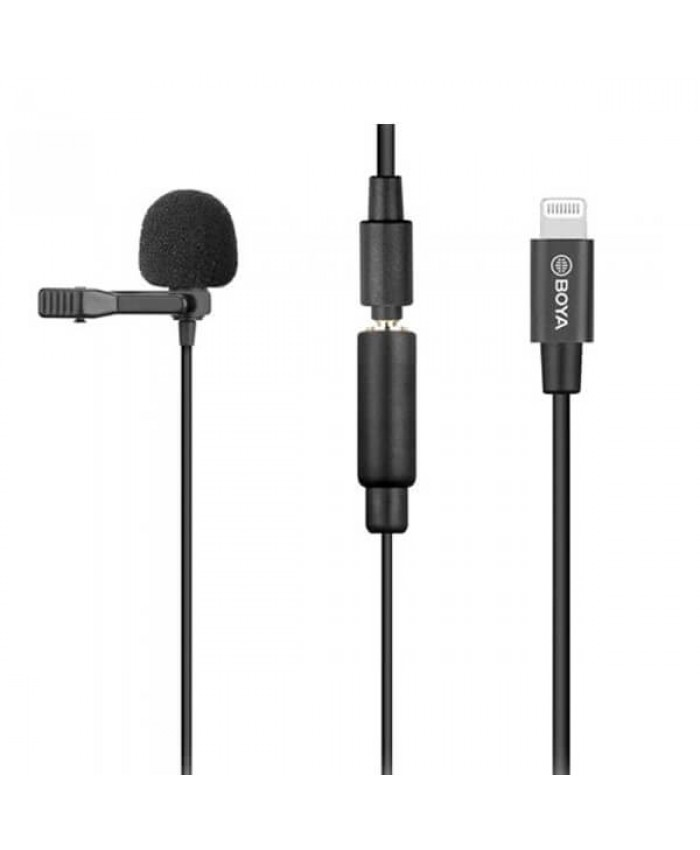 BOYA BY-M2 Omnidirectional Condenser Clip-On Lavalier Microphone for iOS Devices