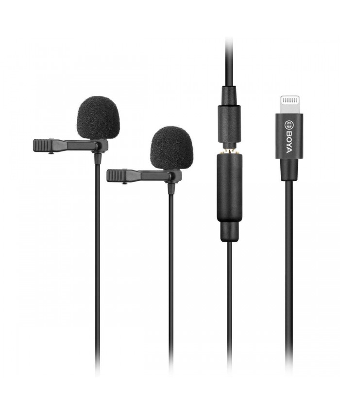 BOYA BY-M2D Digital Dual Clip-On Lavalier Microphones for iOS Devices