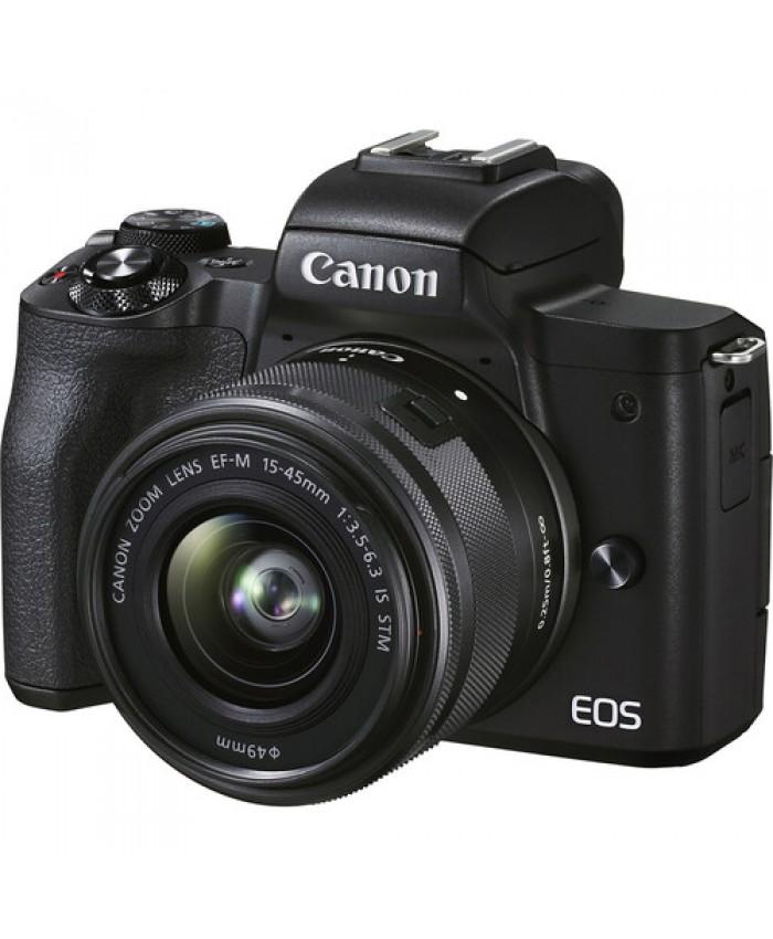 Canon EOS M50 Mark II Mirrorless Digital Camera with 15-45mm Black