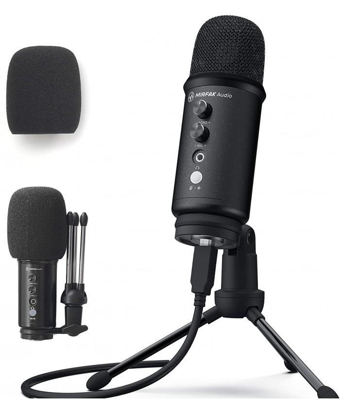 Mirfak Audio TU1 USB Desktop Microphone Pop-Filter & Tripod Stand