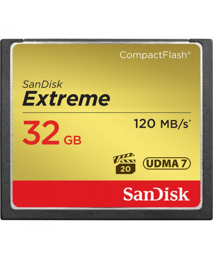 SanDisk Extreme 32GB CompactFlash Memory Card  120 MB/s