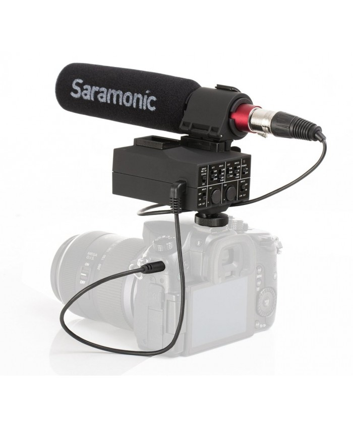 MixMic - Shotgun Microphone with Integrated 2-Channel XLR Audio Adapter