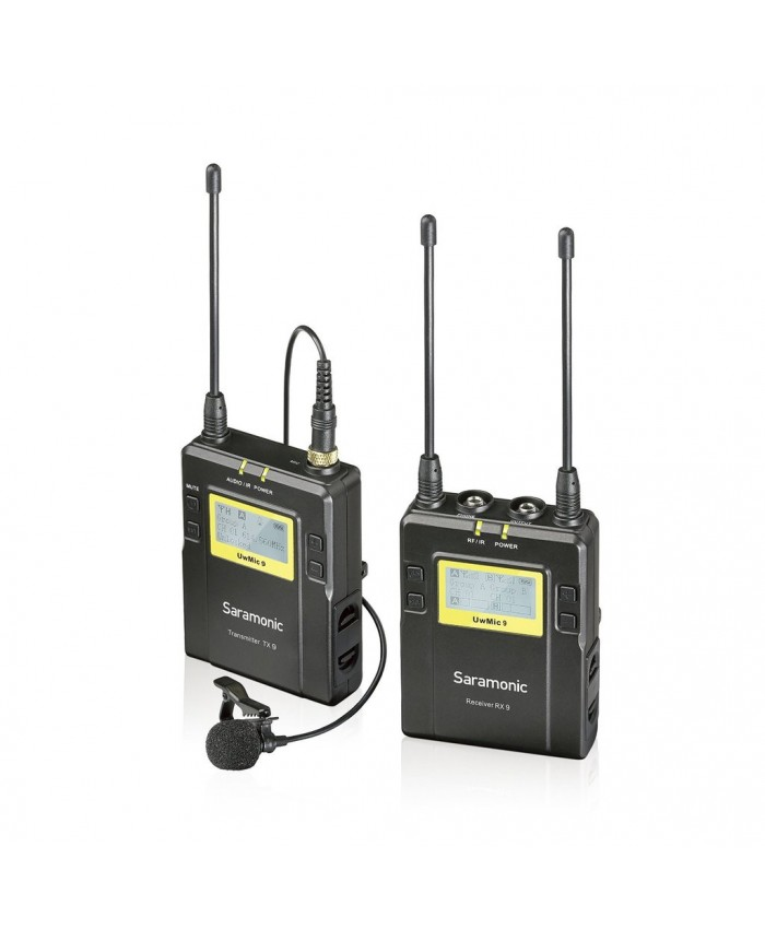 Saramonic UWMIC9 96-Channel UHF Wireless Lavalier Microphone System TX+RX