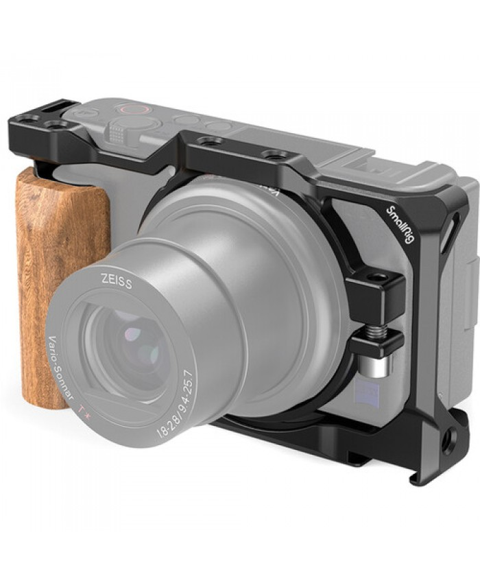 SmallRig 2937 Cage with Wooden Handgrip for Sony ZV1 Camera