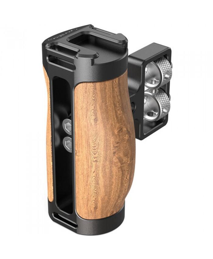 "SmallRig 2913 Mini Wood Side Handle with Dual 1/4""-20 Screw Mount"