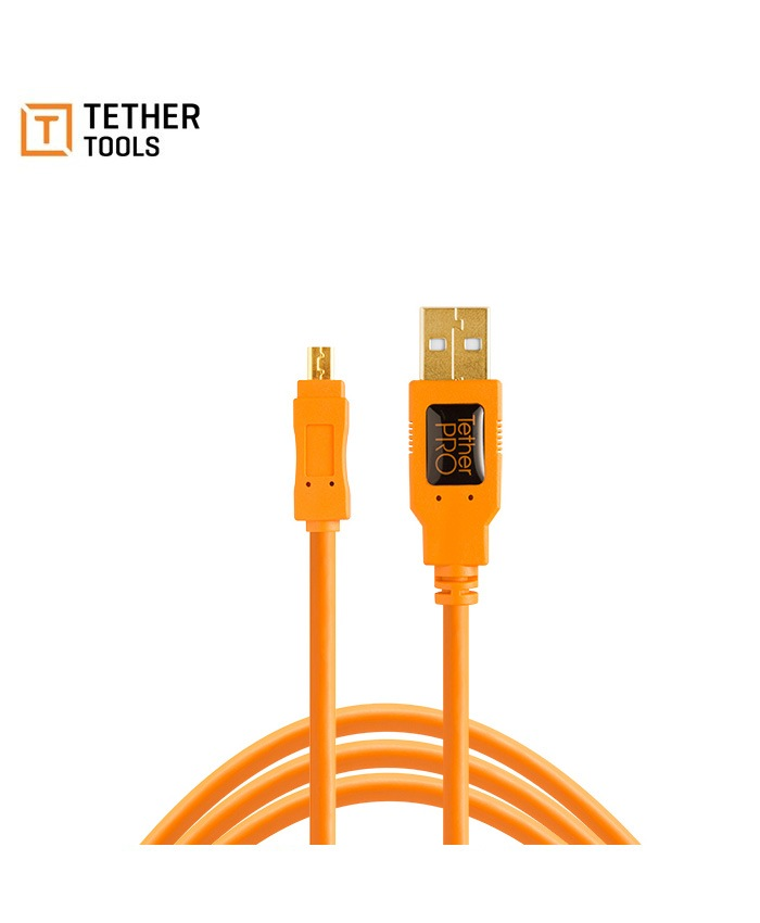 TetherPro USB 2.0 Mini-B 8-Pin Cable 4.6m CU8015-ORG